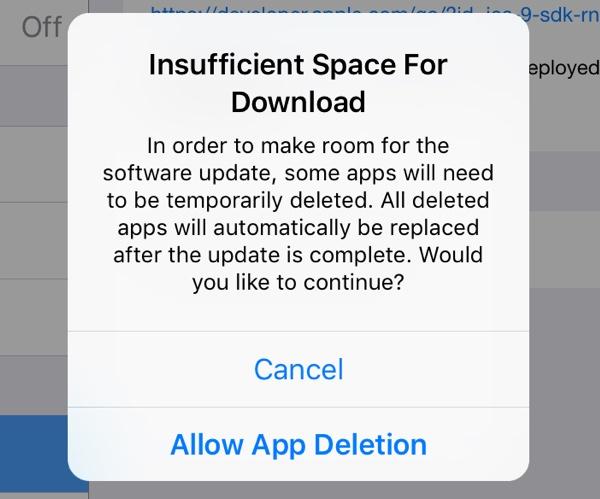 iPhone空间不足无法安装?iOS 9有妙招