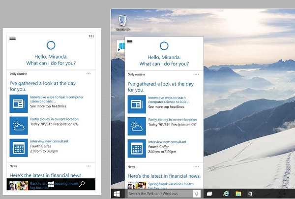 Windows 10桌面端小娜将融入更多国家