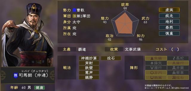 三國志 14 武将