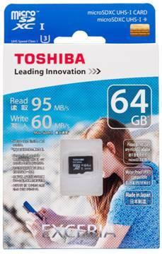东芝全新EXCERIA™高速microSD存储卡上市