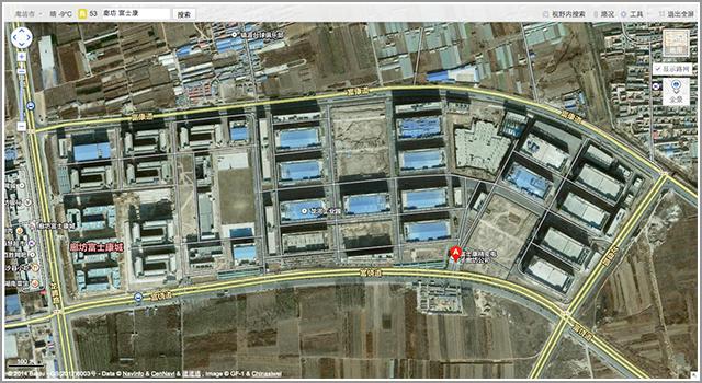 坊市西南郊区的富士康代工厂厂区(图片来自百度地图)-小米 4的诞图片