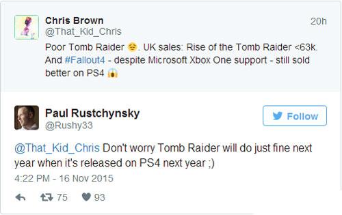 古墓丽影崛起销量遭索尼吐槽等PS4吧