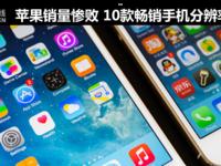 苹果销量惨败 10款畅销手机分辨率揭秘
