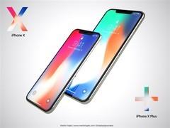 Plus版iPhone X高清概念图曝光:6.4英寸 更全面