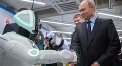 俄机器人逃跑 普京接见并握手 因多次逃跑顾得称号