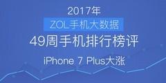 49周手机排行榜评:前十稳定 iPhone 7 Plus大涨