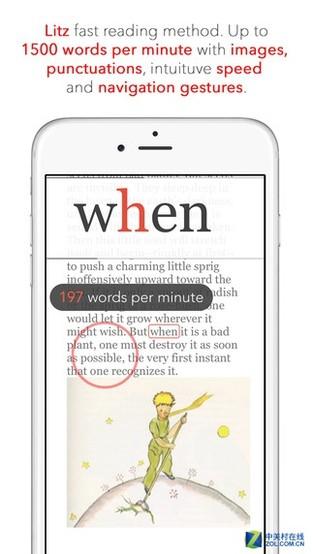 App今日免费:优秀的第三方英文阅读Litz