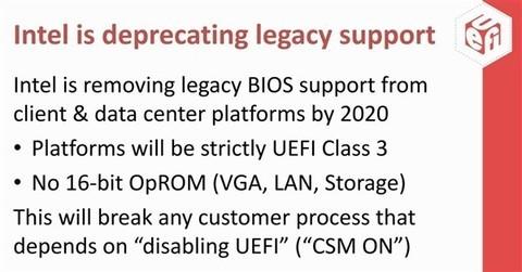 Intel 2020年封UEFI:Win7将无法启动