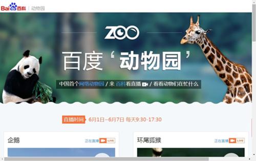 """据百度搜索风云榜数据显示,""""百度动物园""""在上线半小时后,便立即登上图片"""