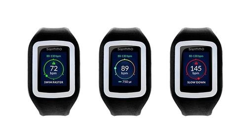 智能穿戴 正文  swimmo智能手表采用方形表盘,无按钮设计,用户通过触