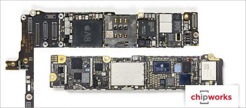 苹果 正文  iphone 6 plus主板 (图片来自chipworks)
