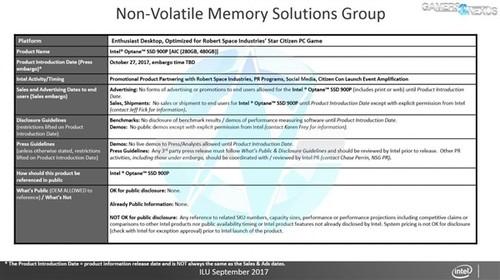 2.5GB/s!Intel傲腾900P固态盘曝光:10月发布