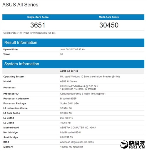 AMD 16核心旗舰Ryzen 1950X性能首曝!对比一惊