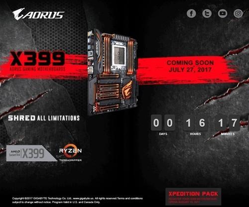 技嘉自曝AMD X399主板开售时间:16核锐龙顶级座驾