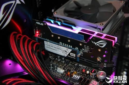 华硕主板神附件:DDR3内存槽扩展出两个M.2 SSD口