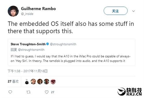 苹果在iMac Pro内塞入一颗A10处理器:实时响应Siri语音