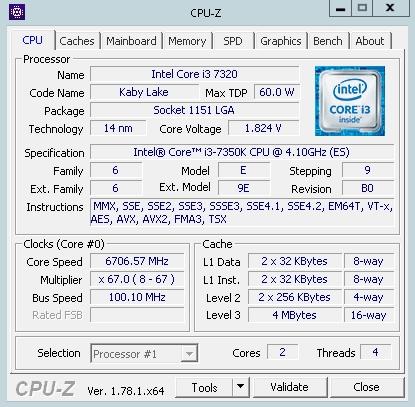 Intel i3-7350K狂飙:满血超频6.7GHz 秒i5全家