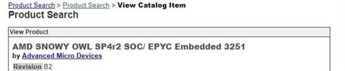 AMD EPYC 3251处理器曝光:8核SoC、对标Intel Xeon-D