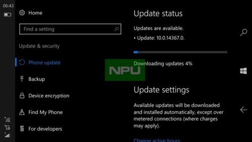 ����ӿ� Windows 10 Build 14367����