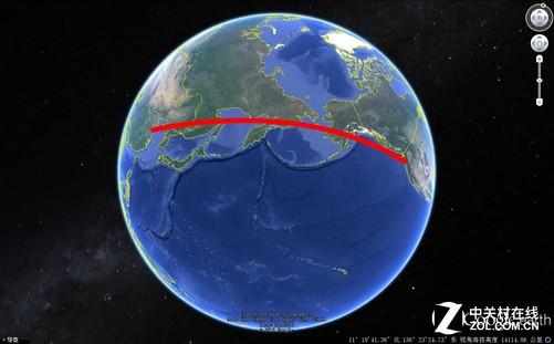 我们乘坐飞机时候看到的航线图大多数都是曲线