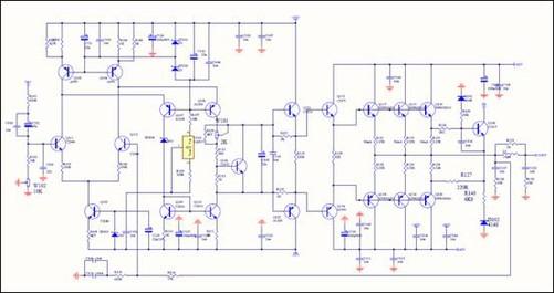 笔者画出一个声道的放大电路给您看看您就会明白何为高保真电路啦!