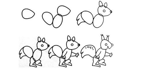 小动物画法简单,通俗易通,一笔一划地教宝宝学画画,让宝宝不仅认识和