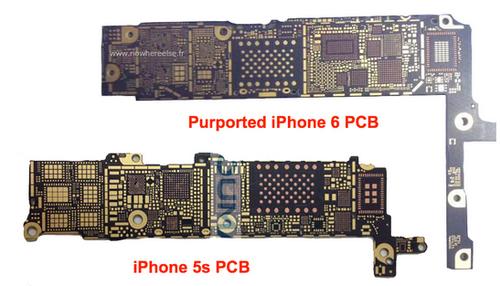 螺丝孔与外壳相符 苹果iphone6主板曝光