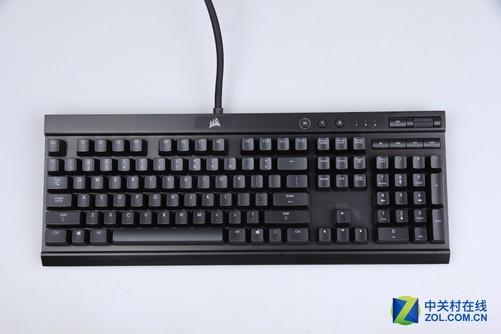 海盗船k70 红轴版机械键盘使用美式104键布局设计图片