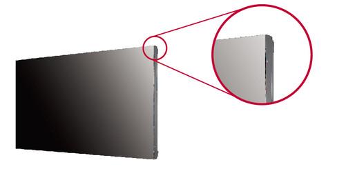 商显领军品牌LG继2015年底推出首款55英寸无边框拼接显示器VH7B之后,近期又上市另一款55英寸无边框拼接显示器VM5B。VM5B凭借其近乎无边框的设计已达液晶拼接极致,内置四核SoC,亮度为500nit,对LG拼接屏产品线进行了有效补充,也给行业客户提供了更多的选择。   真正的无边框设计,拼接效果更震撼 LG VM5B拼接显示器采用无金属边框设计,突破了物理束缚,仅有0.