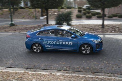 韩国现代汽车ioniq完成自动行驶示范