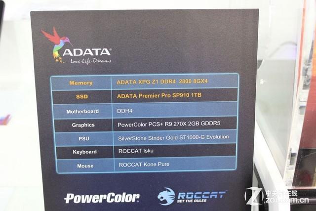 威刚展示全球第一款DDR4超频内存