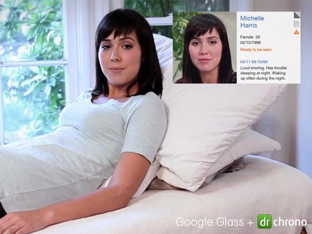 <a href=http://www.chuandaihui.com/zhuanti/GoogleGlass/ target=_blank class=infotextkey>谷歌眼镜</a>首款健康记录应用:Drchrono
