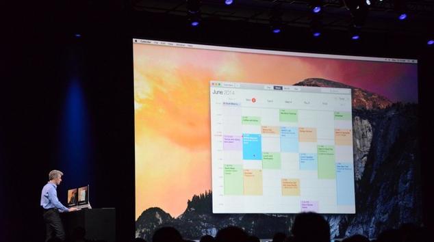 WWDC2014:扁平Yosemite亮相 Mac打电话