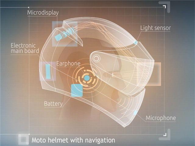 躲避危险 可定位导航智能头盔正在众筹