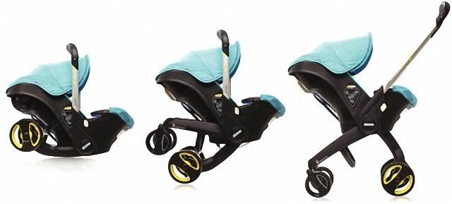 可变身安全座椅的折叠婴儿车
