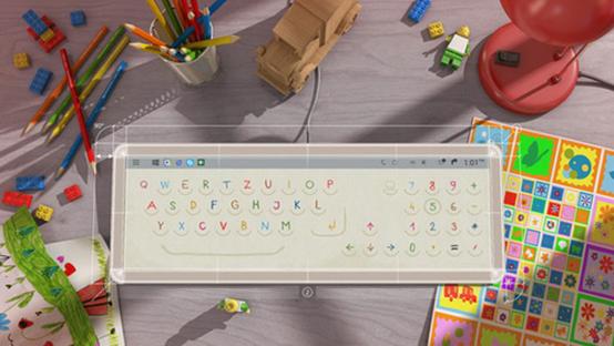 布局随意变 新奇透明触控屏键盘亮相