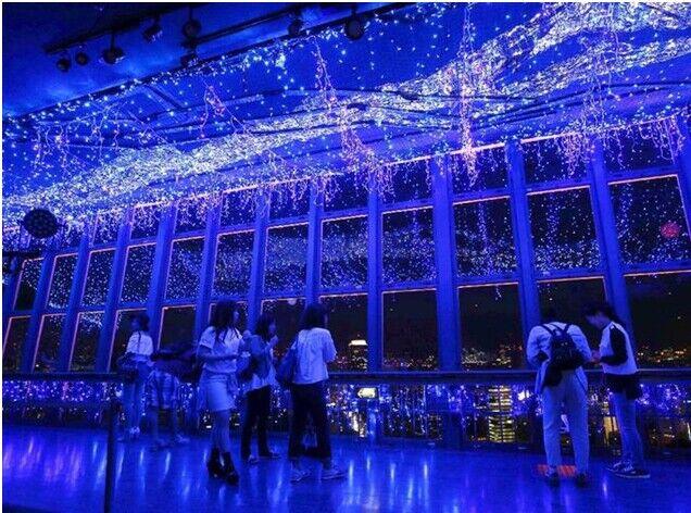 13万LED盛景 东京塔打造蓝色银河景观