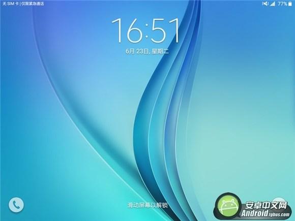 三星galaxy tab a锁屏界面图片