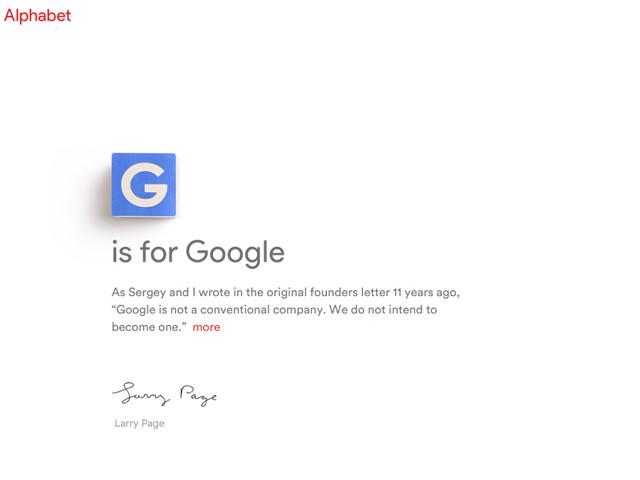谷歌重组:由Alphabet控股 皮采接替CEO