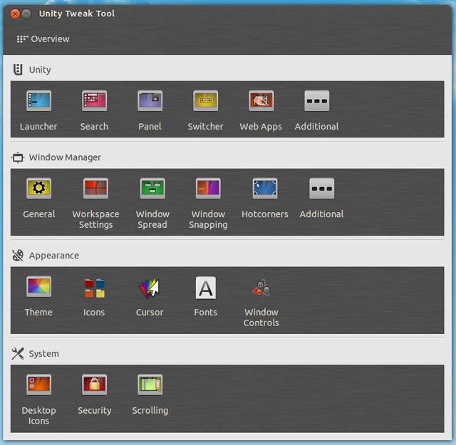 技巧:在Ubuntu中安装Unity Tweak Tool