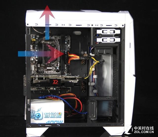 四个CPU风扇面对测得的温度图片