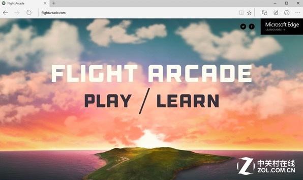微软模拟飞行登陆Windows 10浏览器:超流畅