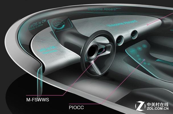 乐视超级汽车内饰概念图-乐视百度阿里加快智能化节奏 液晶显示器新闻高清图片