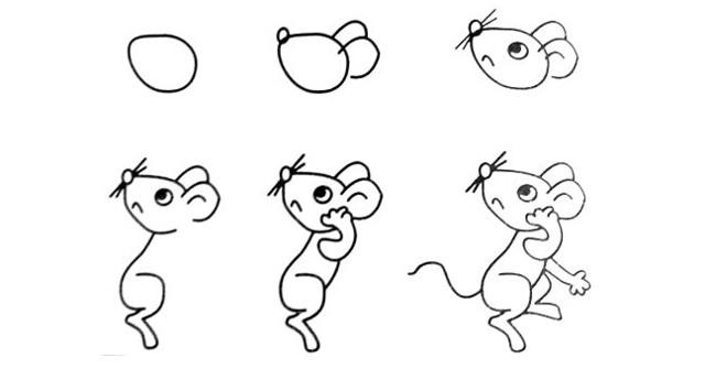老鼠怎么画简单又可爱