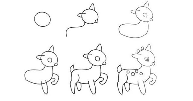 学一门艺术很重要 教宝宝画各种动物