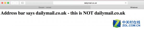 Safari有地址栏欺骗bug 可用于网络钓鱼