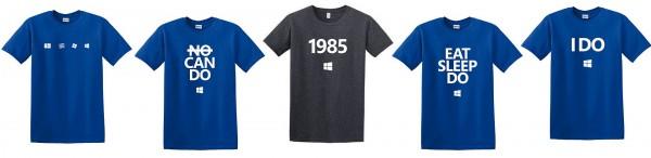 营销?微软推出多款Windows 10主题T恤