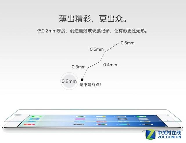 拒绝虚标 欧酷卡iPad全系列0.2mm钢化膜
