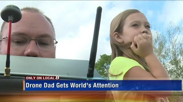 爹地你够了 美国爹用无人机送女儿上学