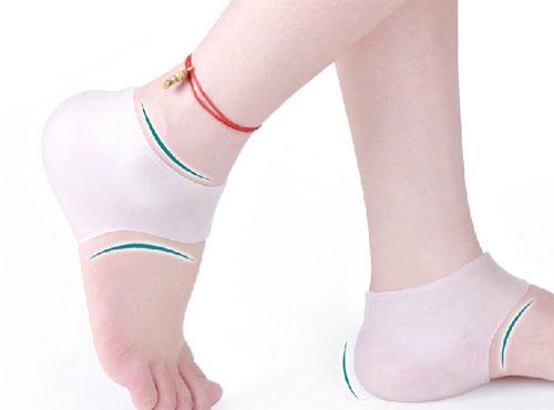 硅膠後足跟保護套/足跟防裂襪套(一雙)